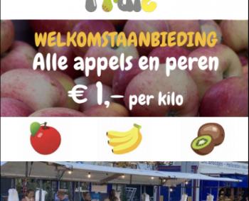 Alle appels en peren €1 per kilo!