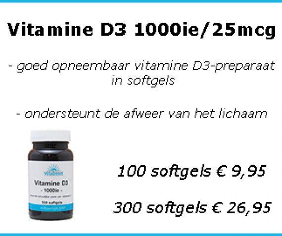 Vitamine D3 1000ie/25mcg
