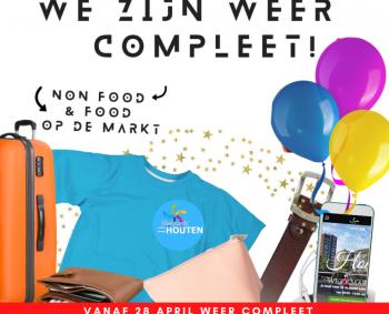 Zien we u ook bij onze complete markt met Non-Food ondernemers (vanaf 28 april)?