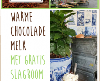 Warme chocolademelk met gratis slagroom