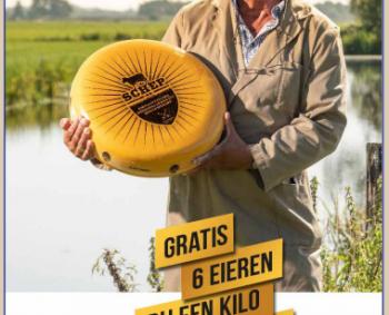 gratis eieren bij een kilo schep kaas