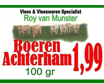 Boeren Achterham 100gr